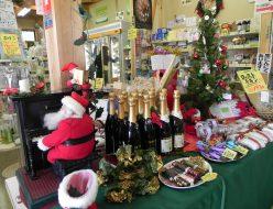 クリスマス関連の商品売り場